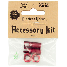 Peaty's X Chris King MK2 Kit accessori per valvole tubeless, rosso